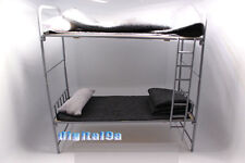 "1/6 WW2 German Army Metal & Wooden Bunk Bed DIY Scenery Accessories F 12"" Figure"
