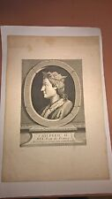 Antique Vintage Engraving of Chilperic II 18th/19th Century