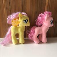 My Little Ponies Soft Toy Bundle x2 Pinkie Pie Yellow Pony Fluttershy