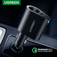 Ugreen Car Charger Adapter 60W Cigarette Lighter Socket Splitter QC 3.0 for iPad