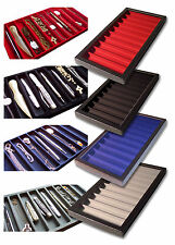 1 Glass Display Case Black 10 Long Division Pens Knives Watch Chain Bracelet