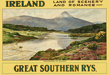 Ballinahinch - Co Galway - Ireland - Irish Railway Travel A3 Art Poster Print