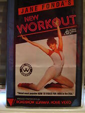 JANE FONDA'S ~ NEW WORKOUT ~ VHS VIDEO ~ BEGINNERS & ADVANCED AEROBICS ~ 90 MINS
