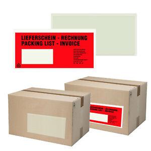 Lieferscheintaschen DIN LANG Dokumententaschen Begleitpapierhüllen Lieferschein