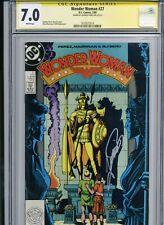 Wonder Woman 27 - CGC 7.0 SS - Signed by George Perez - 1989 - WW84 movie