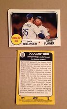 CODY BELLINGER RC JUSTIN TURNER #CC-9 Dodgers #/49 made 2017 topps Heritage 5x7