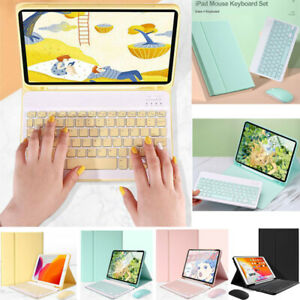 For iPad Mini 1 2 3 4 5 6 2021 Bluetooth Keyboard Case Leather Magnetic Cover