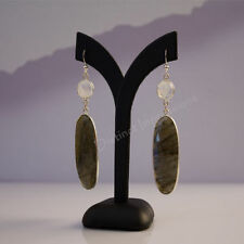 Handmade Hook Labradorite Fine Earrings