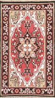 Geometric Oriental Indo Heriz Area Rug Wool Hand-Knotted RED NEW Carpet 3x5