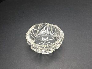 Cut Glass Vintage Trinket Pot Tea Light / Candle Holder