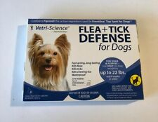 Vetri Science Flea + Tick Defense for Dogs and Puppies Up to 22-Pound 3 Doses