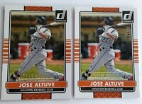 (2) 2015 Donruss Jose Altuve GOLD Press Proof Lot Insert S# /99 Houston Astros