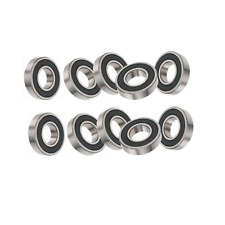 10x 6202-16 Bearings 2rs DD VV Rubber Seals Deep Grooved Radial Ball Bearing