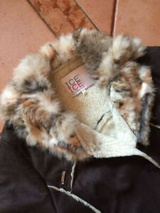 MONTONE GIACCA TRENCH ICEBERG VINTAGE TG 14 FIT XS S MADE IN ITALY SHERPA FUR