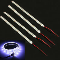 4x 12V DC 25cm 15 LED 5630 SMD Waterproof Flexible Strip Light Car Home White