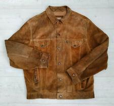 Men's Vintage 80s Levi's Suede Trucker Jacket - Made in England