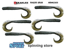 "HERAKLES RAZOR GRUB 4,5"" AHRKCU03 SMART GREEN SPINNING RIVA BARCA X BLACK BASS"