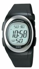 Casio FE10-1A, Chronograph Watch, Black Resin Band, Alarm