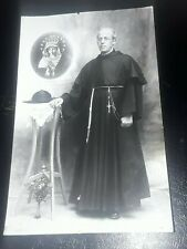 MALTA - RPPC POSTCARD - A CATHOLIC PRIEST - RABAT ?