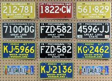 10 MICHIGAN Colored License Plates Tags Crafts Art Man Cave Decor 1 PAIR LOT 781