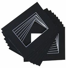Pack of 100 16x20 Black Mat with WhiteCore for 11x14 Photo