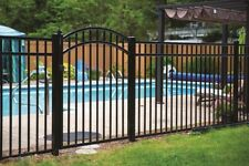 """180' of 54"""" HIGH x 6' WIDE GEORGIA STYLE ALUMINUM POOL CODE FENCE w/POSTS & CAPS"""