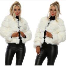 Lumi London The Paris Faux Fur Coat In Swan Size Uk 8 BNWT Designer Desirables