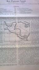 1886 33a Panama Kanal 8 Seiten