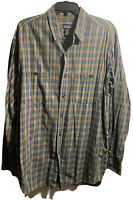 PATAGONIA MEN'S CHECKED BUTTON FRONT LONG SLEEVE SHIRT SIZE LARGE