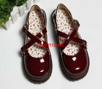 Sweet Mary Jane Lolita Women's Girls Flats Pumps Casual Strappy Cosplay Shoes SZ