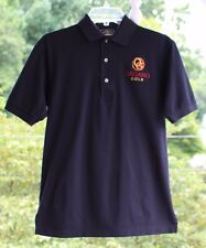 Outer Banks Reserve Mens sz Small Black Organo Gold Coffee Polo Golf Shirt