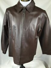 JL Studio Exclusively Jessica London Brown Chocolate Leather Jacket Size 14 WP