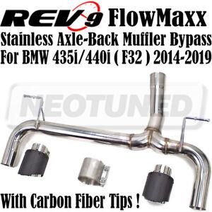 Rev9 CB-211A_2 Axle-Back Exhaust Carbon Fiber Tip For BMW 435i/440i F32 2014-19