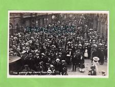 Coronation Crowd Doncaster 1911 unused RP pc Regina Co Ref B626