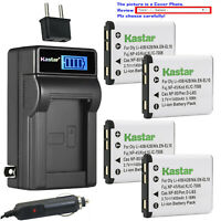 Kastar Battery LCD AC Charger for NP45 NP45A NP45B NP-45S Fujifilm FinePix JZ305