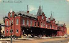 Moberly Missouri Union Station Street View Antique Postcard K46851