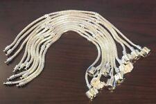Bracelet 10PCS Snake Chain Fit European Beads Silver Charm Bracelet  7.5 inch