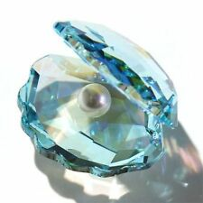 Swarovski :  Shell with Pearl  Light blue  New 1120198