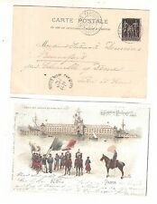 20) 1900 World Exhibition during Olympic Games card cancel Paris Expo SUFFREN