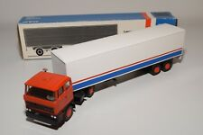 ± LION CAR DAF 2800 TRUCK WITH TRAILER DAF WHITE NEAR MINT BOXED