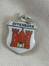 OFFENBURG Silver Travel Shield Enamel Charm