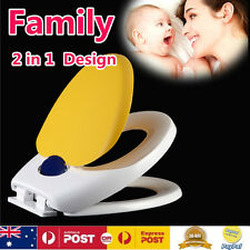 2 in 1 Kids Child Toddler Adult Family Toilet Seat Potty Training Chair Cover