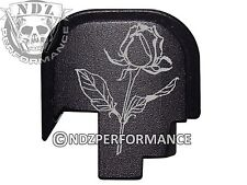 for Smith Wesson Rear Slide Back Plate SHIELD S&W 9 40 BLK Rose Flower