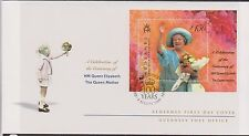 GB-Alderney 2000 Queen Mothers anniversaire £ 1.50 Mini-Feuille SG MSA153 FDC Royalty