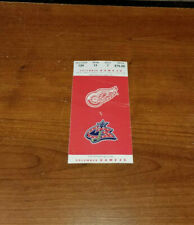 2005 DECEMBER 31 DETROIT RED WINGS VS COLUMBUS BLUE JACKETS TICKET STUB