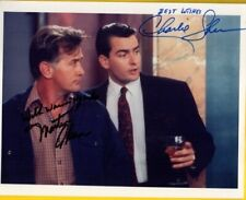 S-Martin Sheen/Charlie Sheen Autographed Color  Photo W/COA