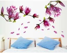 Wandtattoo Schlafzimmer Wohnzimmer Blumenranke Tulpe Lila 60 x 180 XXL W064
