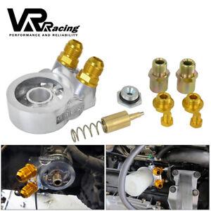 Block Oil Sandwich Cooler Fuel Hose Thermostat AN10 3/4-16UNF M20*1.5 1/8NPT