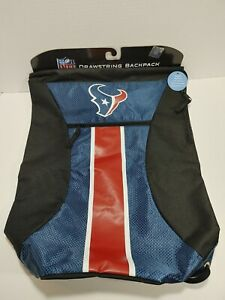 Houston Texans Official NFL Drawstring BackPack SackPack  NEW WITH TAG