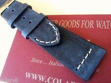 Cinturino pelle vintage ColaReb VENEZIA blu navy 22mm watch band strap correa